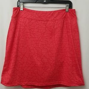 Stretchy Red Skort by Seg'Ments Luxe Sz L